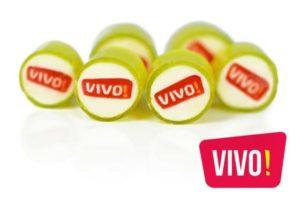 Werbebonbons mit Logo Vivo
