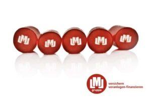 Werbebonbons mit Logo von LML Versicherungsmakler
