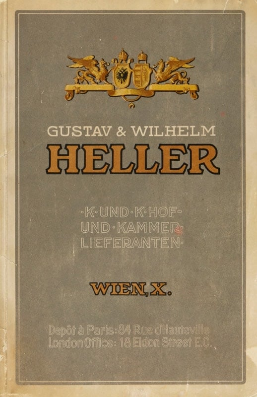 Deckblatt des Katalogs der Heller Bonbonfabrik