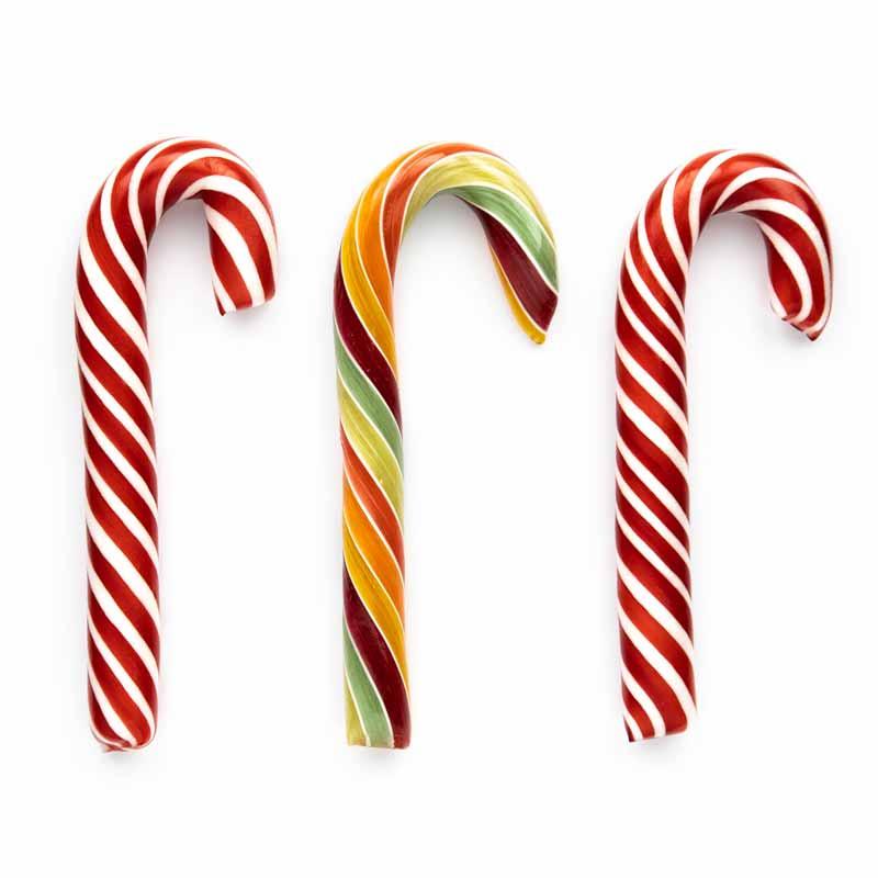 Zuckerstangen für Weihnachten und als Christbaumbehang